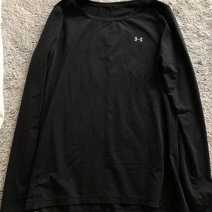 Under armor black running long sleeve top size M